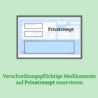 Verschreibungspflichtige Medikamente auf Privatrezept reservieren