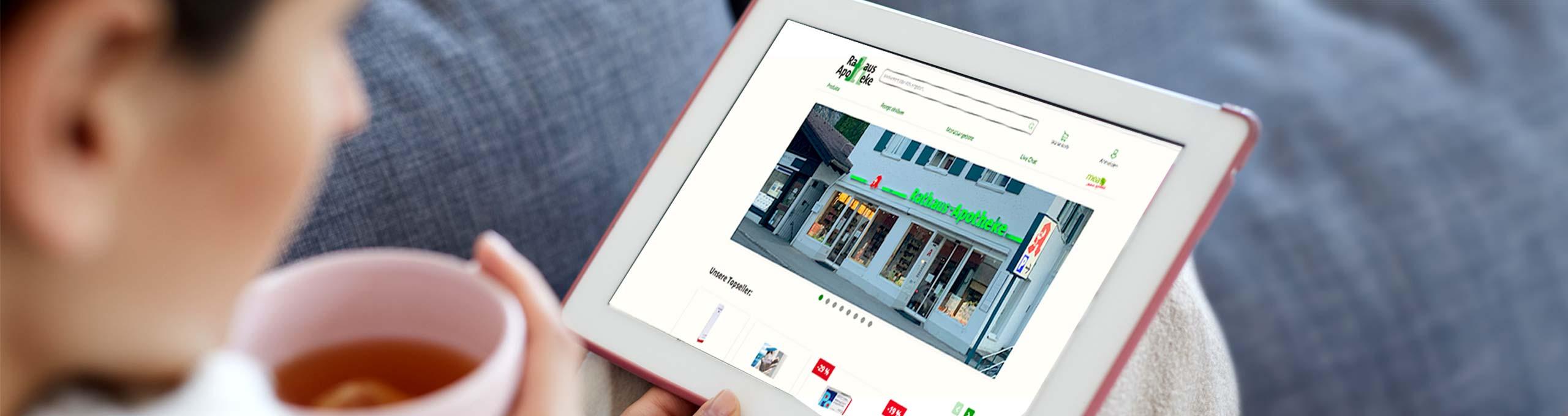 Online-Shop der Rathaus Apotheke Pfronten